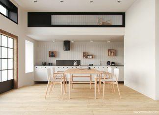 แบบห้องครัว โทนสีขาว เรียบง่าย