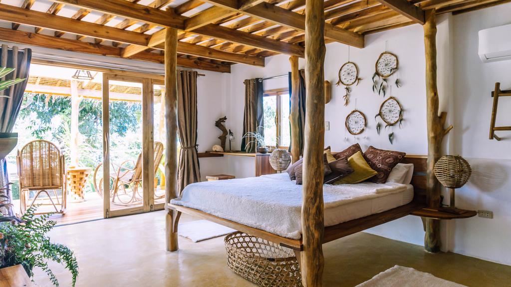 ห้องนอนบ้านไม้